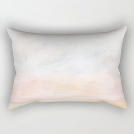 Ecstatic - Pink and Yellow Pastel Seascape Rectangular Pillow