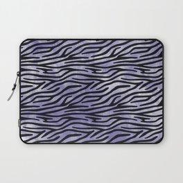 Wild at heart, Blue zebra print Laptop Sleeve