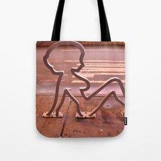 Lady Shape Bike Rack Tote Bag