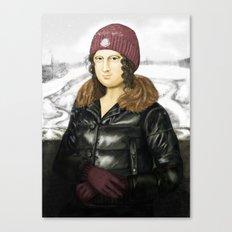 Mona Lisa in winter Canvas Print