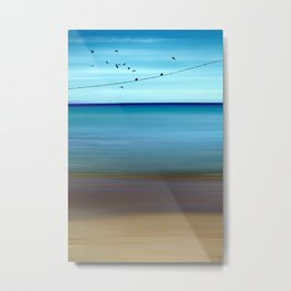 Cretan Sea & Birds II Metal Print