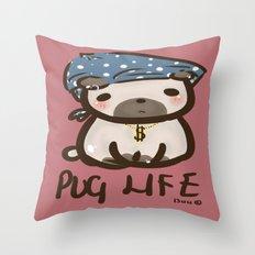 'Pug Life' Throw Pillow