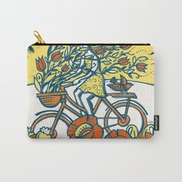 Bike Blossoms Carry-All Pouch