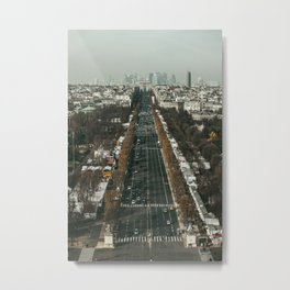 Champs Elysees Perspective Metal Print