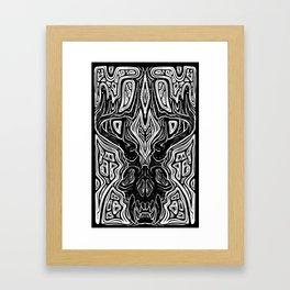 Elk Bones Framed Art Print