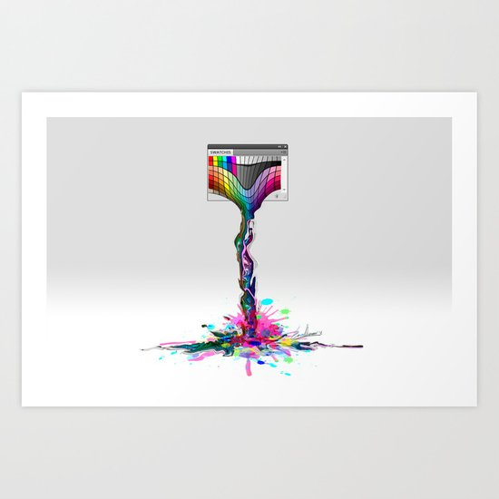 No more paintings, Photoshop it's broken! Art Print