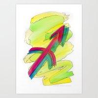 Sagittarius flow Art Print