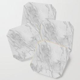 Marble Love Silver Metallic Coaster