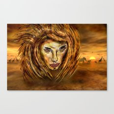 The King of Africa Canvas Print