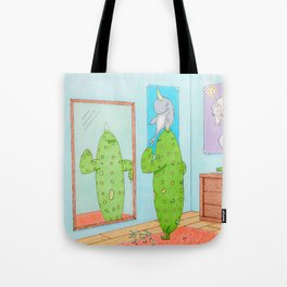 Be yourself. It hurts less. Tote Bag