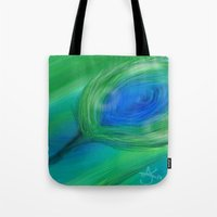 peacock Tote Bags featuring Peacock by ANoelleJay