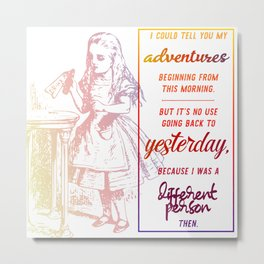 i could tell you my adventures...  Metal Print