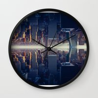 inception Wall Clocks featuring Inception by Thomas Richter