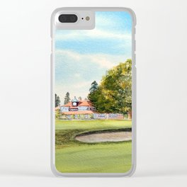Sunningdale Golf Course 18th Green Clear iPhone Case