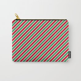 Christmas Tight Stripes Carry-All Pouch