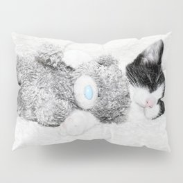 Kitten and teddy Pillow Sham