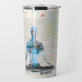 Yoga Book. Lesson 1 Concentration - painting - art print  Travel Mug