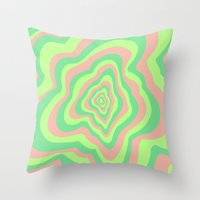 watermelon Throw Pillows featuring Watermelon by Popsicle Illusion