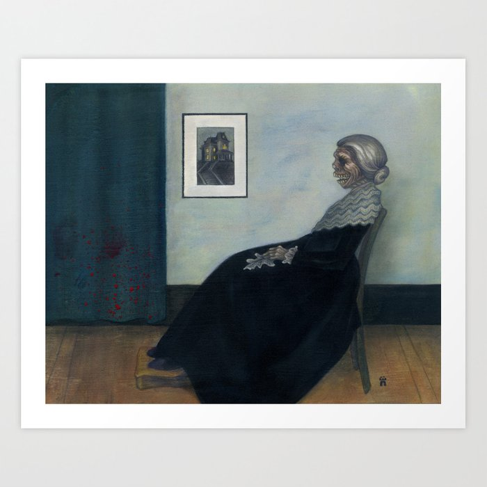 Norman's Mother Art Print