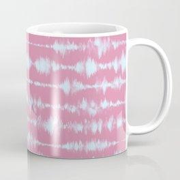 Tie Dye Lines on Pink Coffee Mug