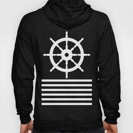 AFE Navy & White Helm Wheel Hoody