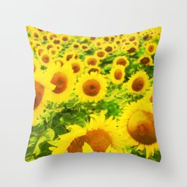 Solsikker Throw Pillow
