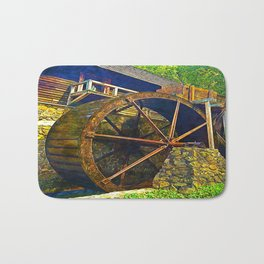 Gristmill Water Wheel Bath Mat