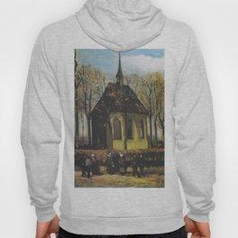 Vincent van Gogh - Congregation Leaving the Reformed Church in Nuenen (1884) Hoody