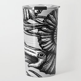 AMMONITE COLLECTION B&W Travel Mug