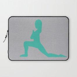 Screen printed Yoga Art - Anjaneyasana  - Low Lunge - Wild Veda Laptop Sleeve