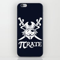 pi iPhone & iPod Skins featuring Pi-Rate by Alby Letoy