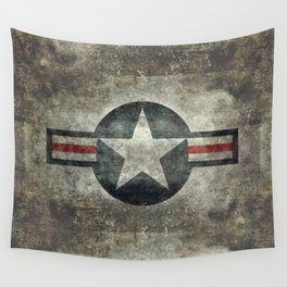 US Air force style insignia V2 Wall Tapestry