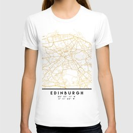 EDINBURGH SCOTLAND CITY STREET MAP ART T-shirt