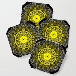 Yellow black design Coaster