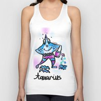 aquarius Tank Tops featuring Aquarius  by sladja
