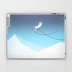 Hummingbird and a red thread Laptop & iPad Skin