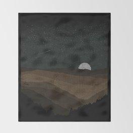 Moonrise (Sepia) Throw Blanket