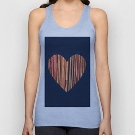 Valentine's Day Vinyl Records Heart Hipster Unisex Tank Top