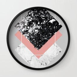 Geometric Textures 1 Wall Clock