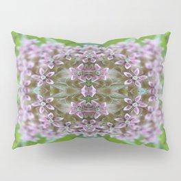 Kaleidoscope Pink Milkweed Flower Macro Photograph Pillow Sham