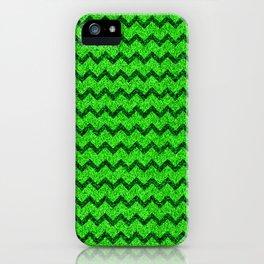 Chevron Glitter Pattern 05 iPhone Case