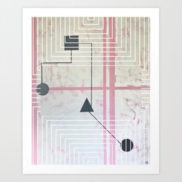 Sum Shape - Line graphic Art Print
