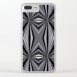 Monochromatic Diamond Clear iPhone Case