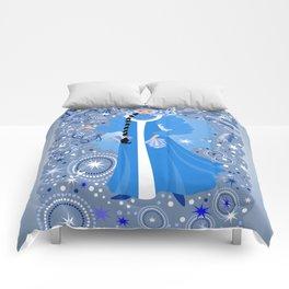 Beautiful snow maiden Comforters