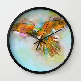 High as a Macaw Wall Clock