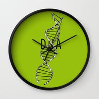 dna Wall Clocks featuring dna by muffa
