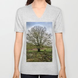 Single Exmoor Tree Unisex V-Neck