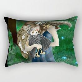 Owls at Midnight Rectangular Pillow