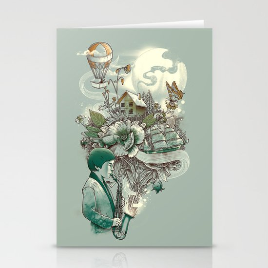 'In Tune with Nature' Stationery Cards