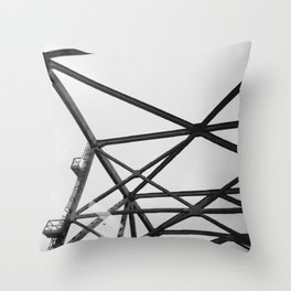 Bridging the Mississippi Throw Pillow
